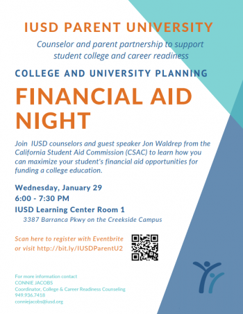 IUSD Parent Universit #2 Financial Aid Night